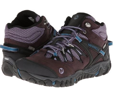 Merrell Women's All Out Blaze Mid Waterproof Hiking Boot. It's naturally shaped to activate your foot muscles, and UniFly midsole technology provides a ride that is soft to the ground for cushioning and terrain absorption and firm against the foot for stability and agility.
