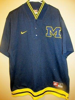 Vintage Michigan Wolverines Basketball Warm Up jersey -Nike Adult large