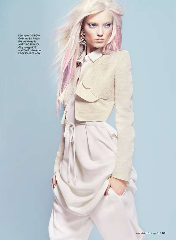 Ethereal Pastel Portraits - The 'Soft Times' Elle Canada Editorial is Ready for Summer