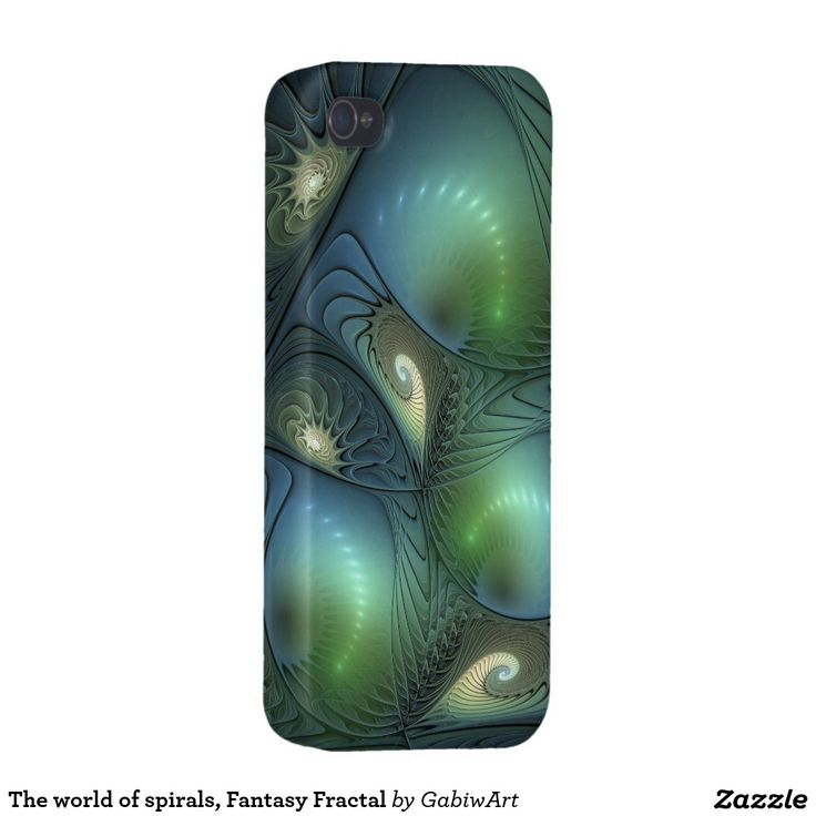 The world of spirals, Fantasy Fractal Case For iPhone 4