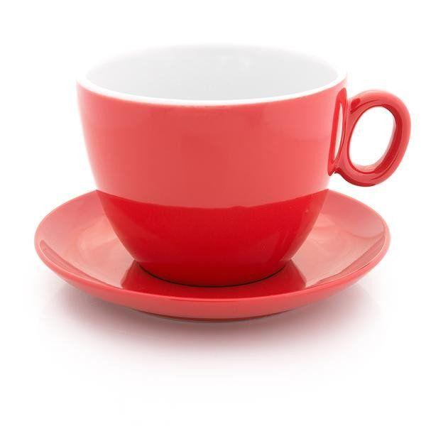 Inker red latte bowl 17 oz