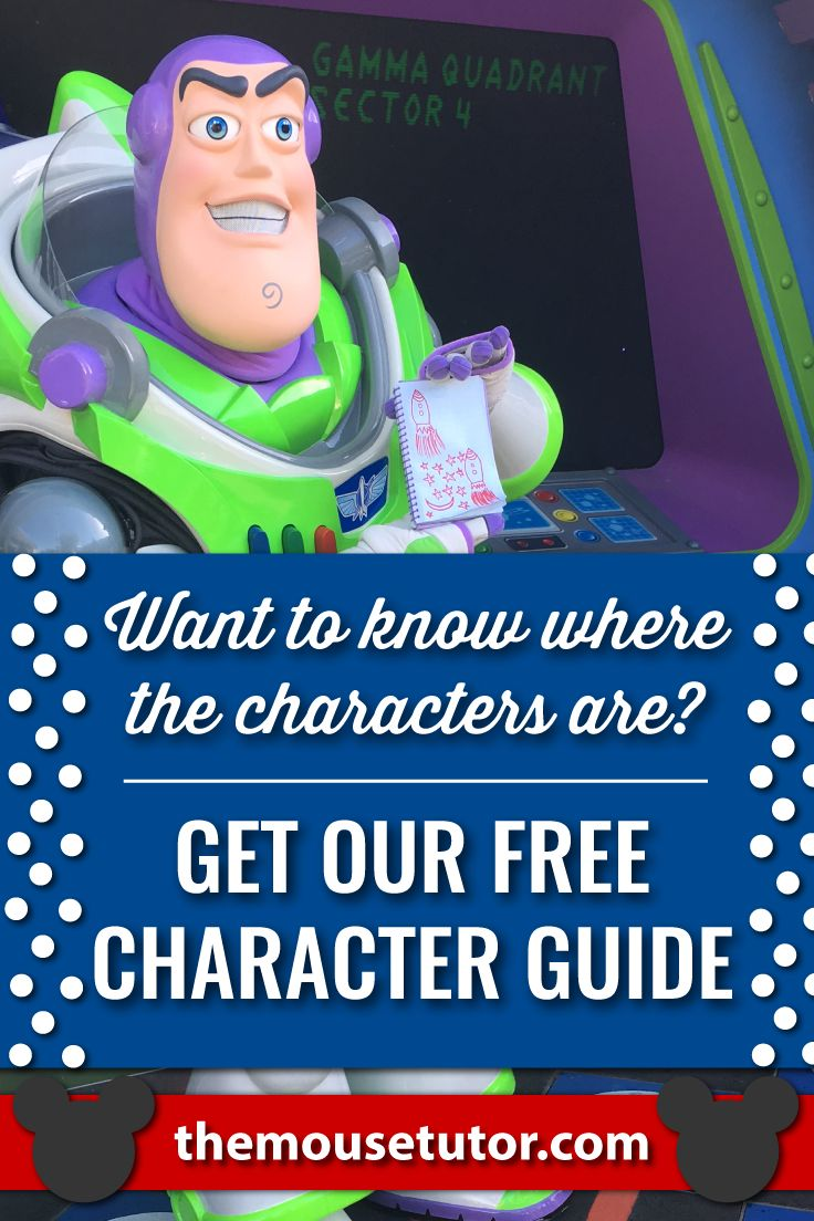 Locate your favorite Disney World characters with our printable Character Location Guide.  This will be a huge help when planning your Disney World Vacation!