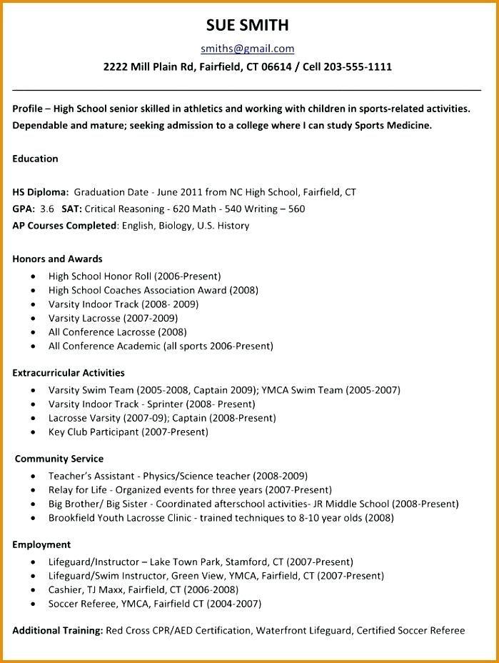 Cv Template Excel High School Resume Template College Application Resume High School Resume