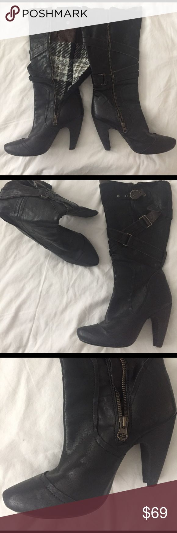 Super super cute Seychelles BOOT. Seychelles leather upper balance man. Super cute. Like new. They were wore twice. Perfect condition! Seychelles Shoes Heeled Boots