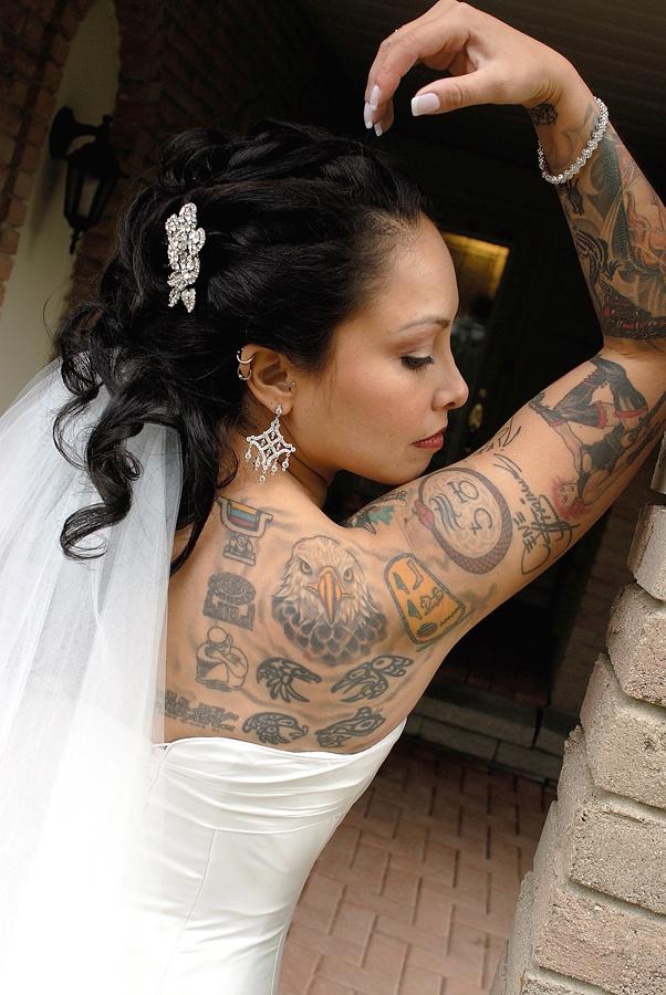 Beautiful Tattooed Bride.