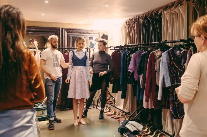 Models dressed into their first look | Alexander Lewis AW16 Presentation - Behind the Scenes at London Fashion Week