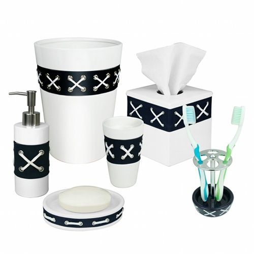 1000 images about nautical bathroom on pinterest for Navy bathroom bin