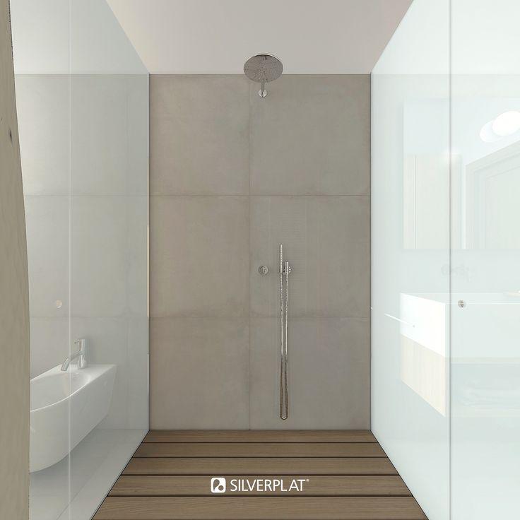 Doccia passante di Design in stile #SILVERPLAT con due ingressi, preferibile in bagni di dimensioni piccole dove lo spazio per la doccia è molto ristretto. Grazie a questa tipologia di doccia si riesce ad ottimizzare al meglio lo spazio della zona bagno. #doccia #piattodoccia #sumisura #moderno #boxdoccia #cabinadoccia #design #bagnodesign #bagnomoderno #docciadesign #esclusivo #arredamentobagno #arredobagno #richdesign #interni #progettazione #arredointerni #design