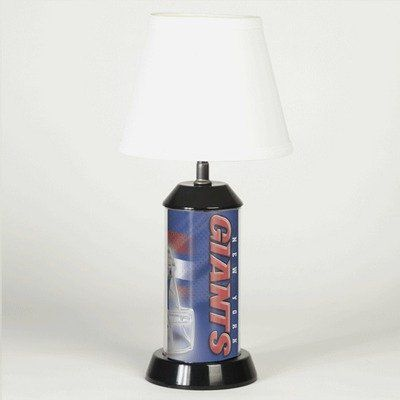 NFL Table Lamp - New York Giants  https://allstarsportsfan.com/product/nfl-table-lamp-new-york-giants/  2300961  Features: -Officially licensed table lamp.-Perfect table lamp for the sports fan that has limited space.-Made of translucent plastic which glows from the inside.-Three-way switch allows lamp to be illuminated with the top light only, base light only or both at the same time.-Easily on...