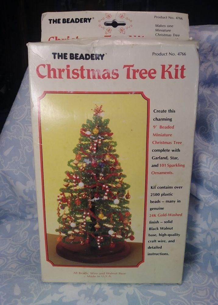 Vintage The Beadery Christmas Tree Diy Beaded Craft Kit Christmas Tree Kit Diy Christmas Tree Diy Beads