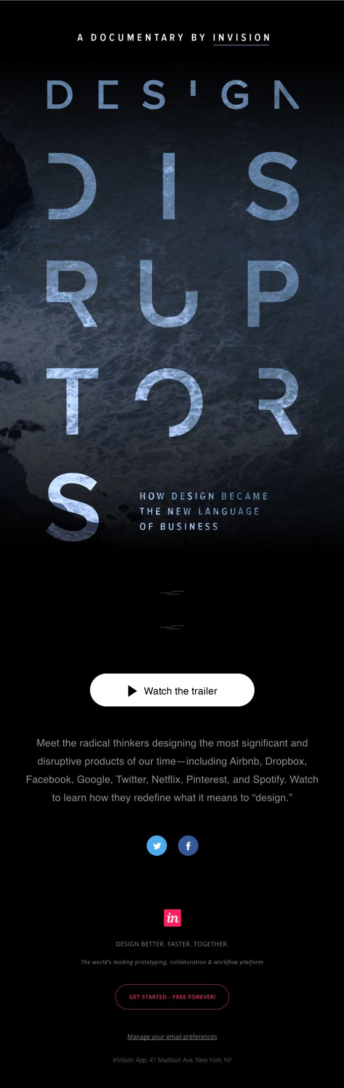 Be first to see DESIGN DISRUPTORS, a design documentary