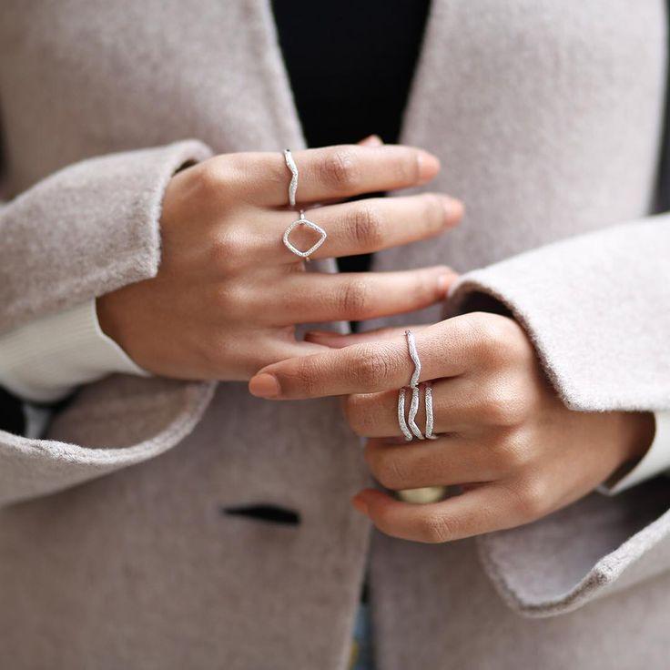 The iconic Riva #Diamond Hoop, Riva Wave #rings.