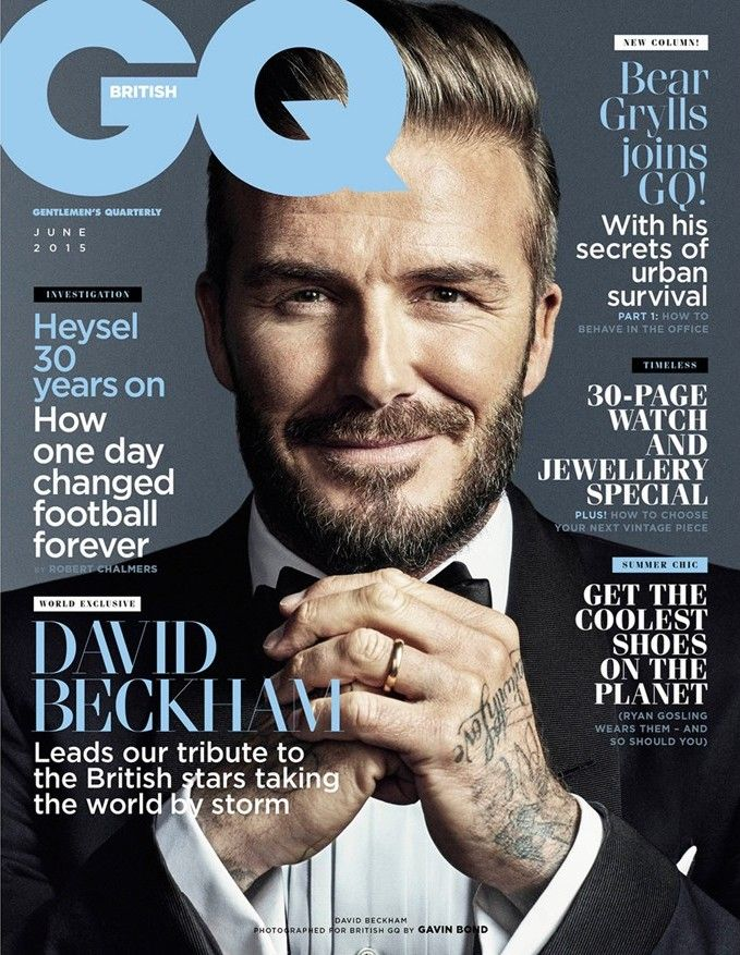 David Beckham Covers June 2015 British GQ.