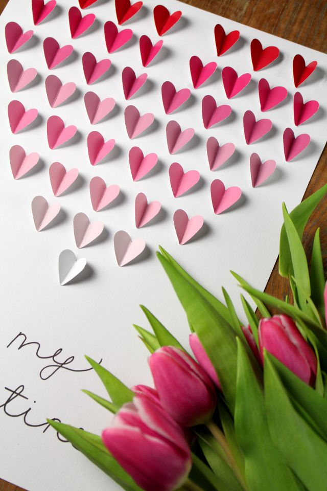 DIY: Valentine's Day Cards | Ombré Hearts