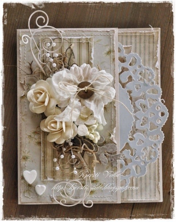 Card Making Ideas With Flowers Part - 41: Beautiful #shabbychic Card #cardmaking #white #shabby #vintage #floral  #wedding