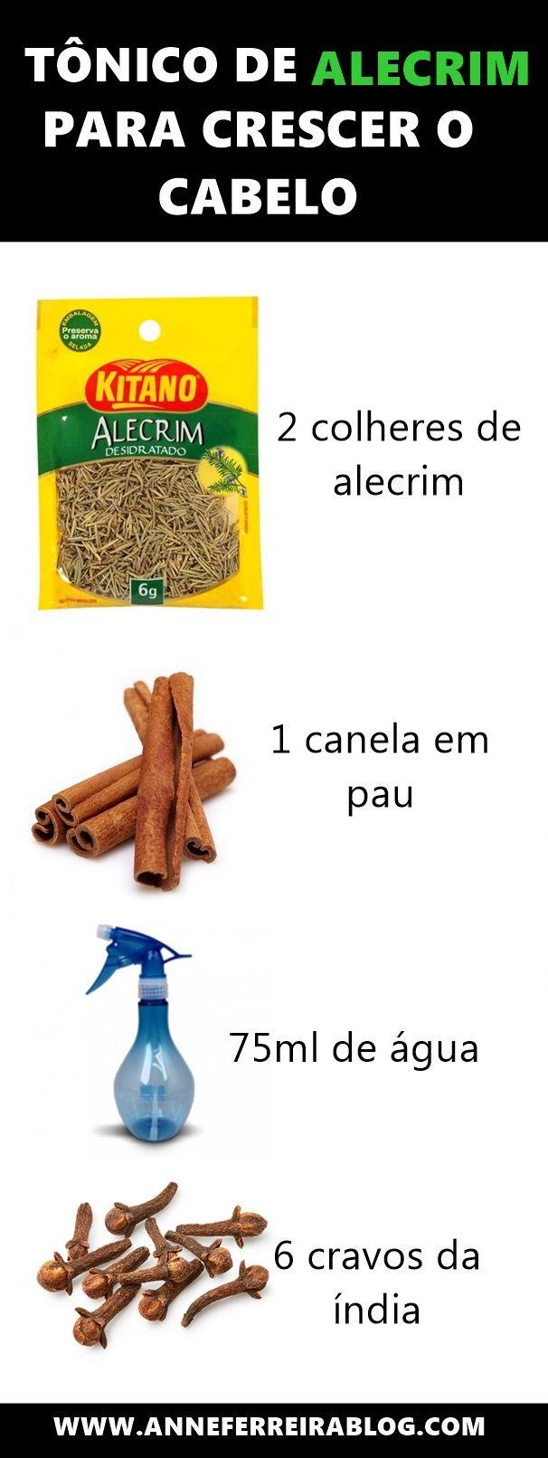 TÔNICO DE ALECRIM PARA CRESCER O CABELO – ME