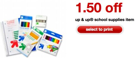 $1.50 Up & Up School Supplies Coupon Means FREE Binders, Pencils And More!