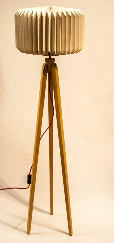 Tripod Floor Lamp Tripod Retro 60 70 Design Origami Standardlamp