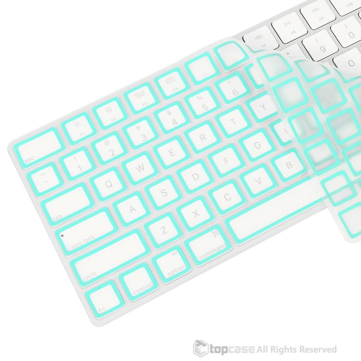 Apple Magic Keyboard Border Series Hot Blue Ultra Thin Soft Silicone Keyboard Cover Skin for Magic Keyboard MLA22LL/A US Keyboard Layout