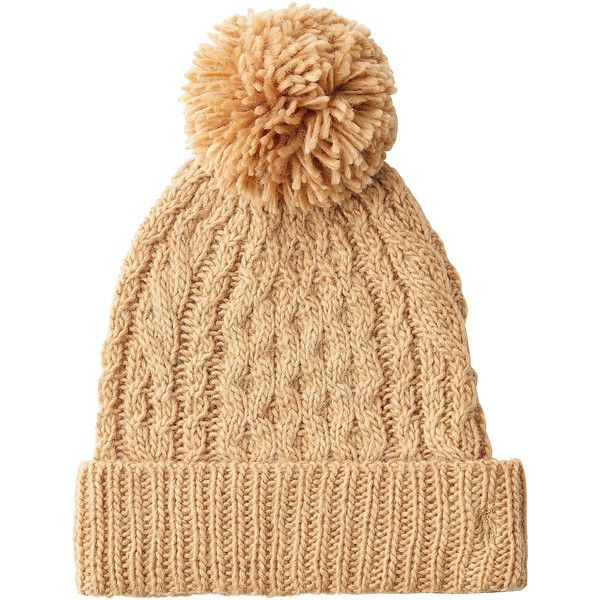 Ralph Lauren Polo Hat ($31) ❤ liked on Polyvore featuring accessories, hats, camel, polo ralph lauren hats, polo ralph lauren, bobble hat and beige hat