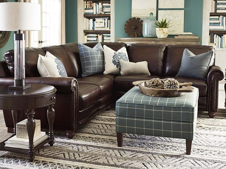 Best 25 brown sectional ideas on pinterest leather - Black and brown living room furniture ...