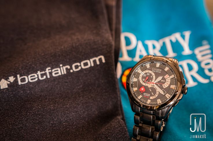 Another photo I took preparing an article about the entrepreneurship of gambling as an affiliate. I got the sponsored clothing when I played some live poker tournaments and the Citizen wrist watch with the PokerStars' logo was purchased with loyalty points.