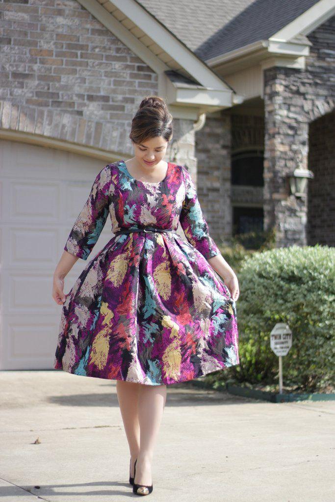 New Fall items at SkirtSociety Jacquard Midi Dress