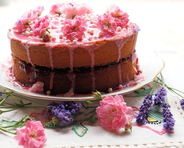 Lavender and Lovage   World Baking Day……Cakes Galore and my Vanilla, Strawberry and Rose Victoria Sandwich Cake   http://www.lavenderandlovage.com