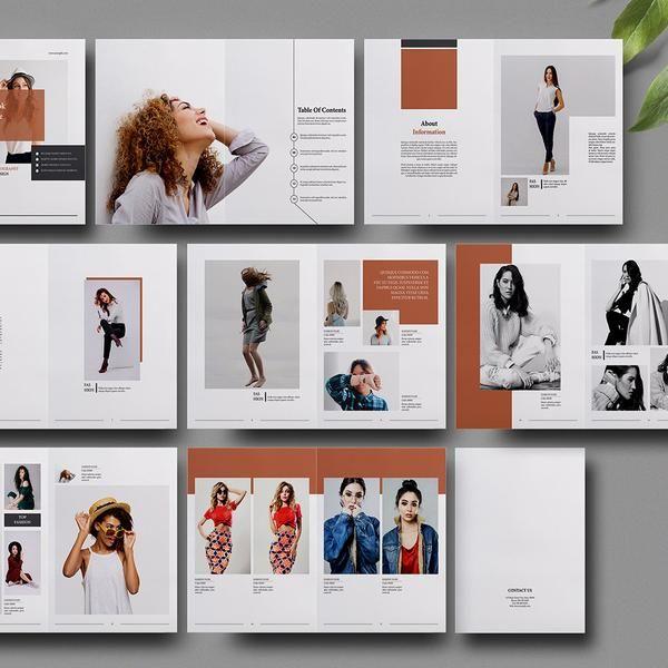 Fashion Lookbook Template Photography Magazine Template Etsy Fashion Magazine Design Layout Fashion Magazine Design Fashion Magazine Layout