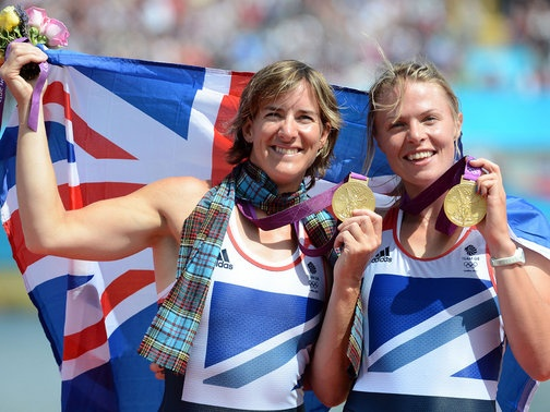 Anna Watkins and Katherine Grainger (rowing gold)