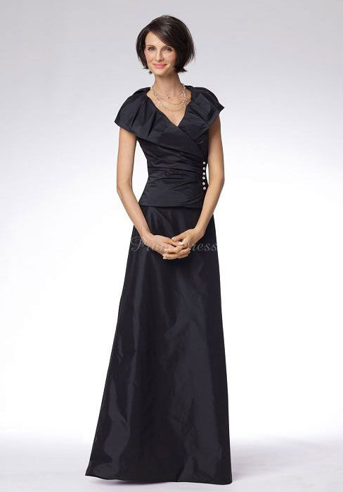 v-neck dress,v-neck dresses #mother #bride #dress