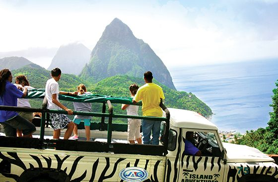 Half Day Green Giant Jeep Safari - Go to the world's  ONLY drive in Volcano (Sulphur Springs) #CoconutBay #Travel #Volcano