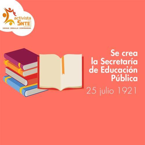 José Vasconcelos fue el primer Secretario de Educación Pública: https://activistasnte.mx/content/activista/post/4336560