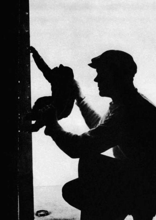 """npr:  Willis O'Brien on the King Kong set.   """