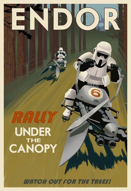 starws art decoc posters   Star Wars Travel Posters