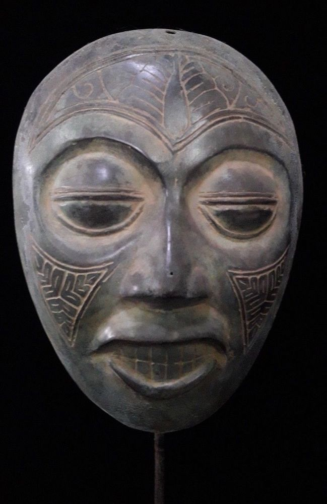 Rare Bronze Brass Mask Ethnographic Collectable Art Masque Christmas Gift Idea #BronzeSmith