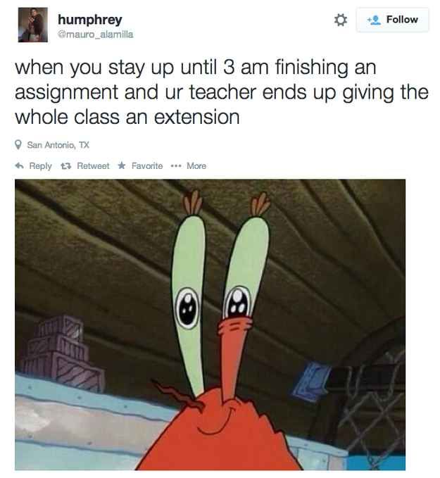 """I.FREAKING.HATE.THIS. I can't help but think """"What if you stayed up all night grading our assignments that we needed & nobody showed up to school? Hmm?!?"""""""