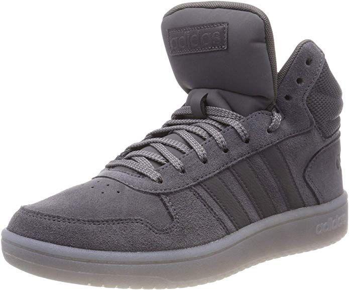 adidas Hoops 2.0 Mid Sneakers Basketball Schuhe Herren Grau ...