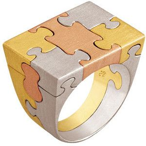 """puzzle ring"" by jewelry designer Antonio Bernardo"
