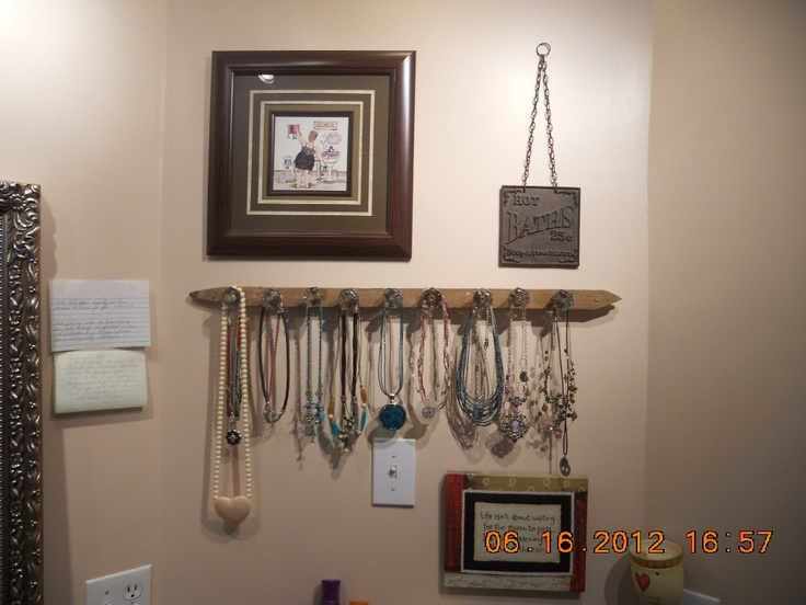 Just made it from a tobacco stick and some old glass knobs I had. Finally a place for all my necklaces. :)