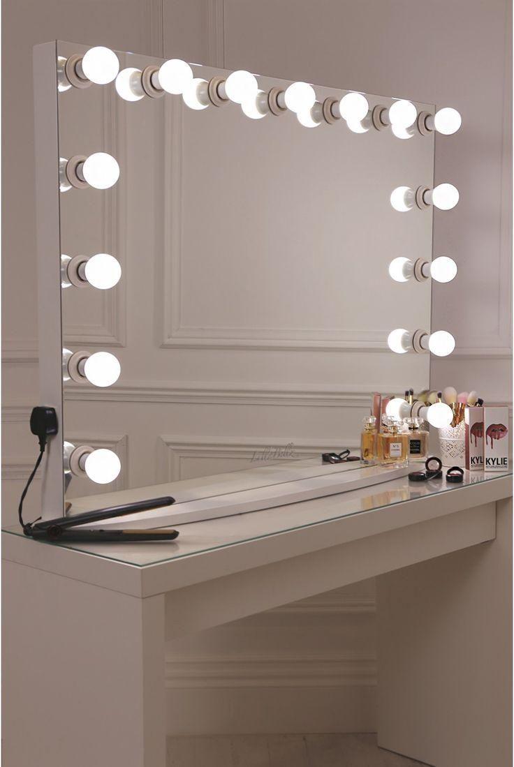 154 Reference Of Bathroom Mirror With Lights Built In In 2020 Schminkspiegel Schminkzimmer Schlafzimmer Diy