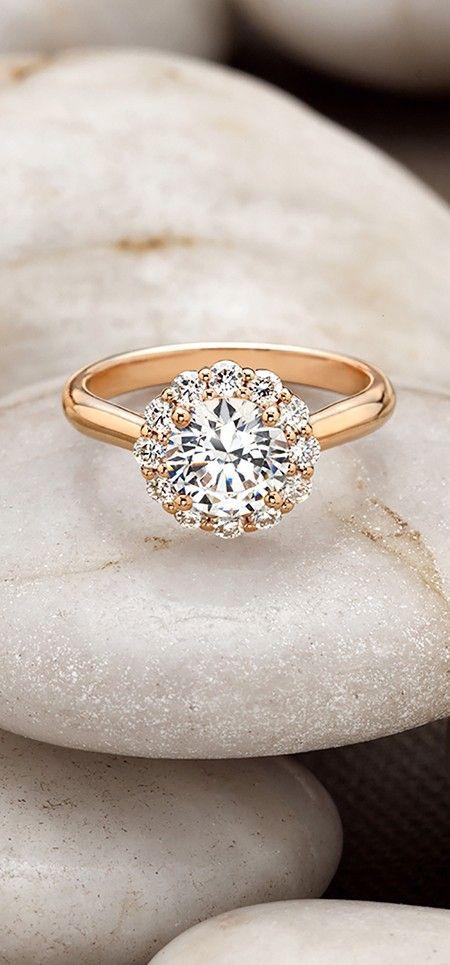 Stunning rose gold engagement ring
