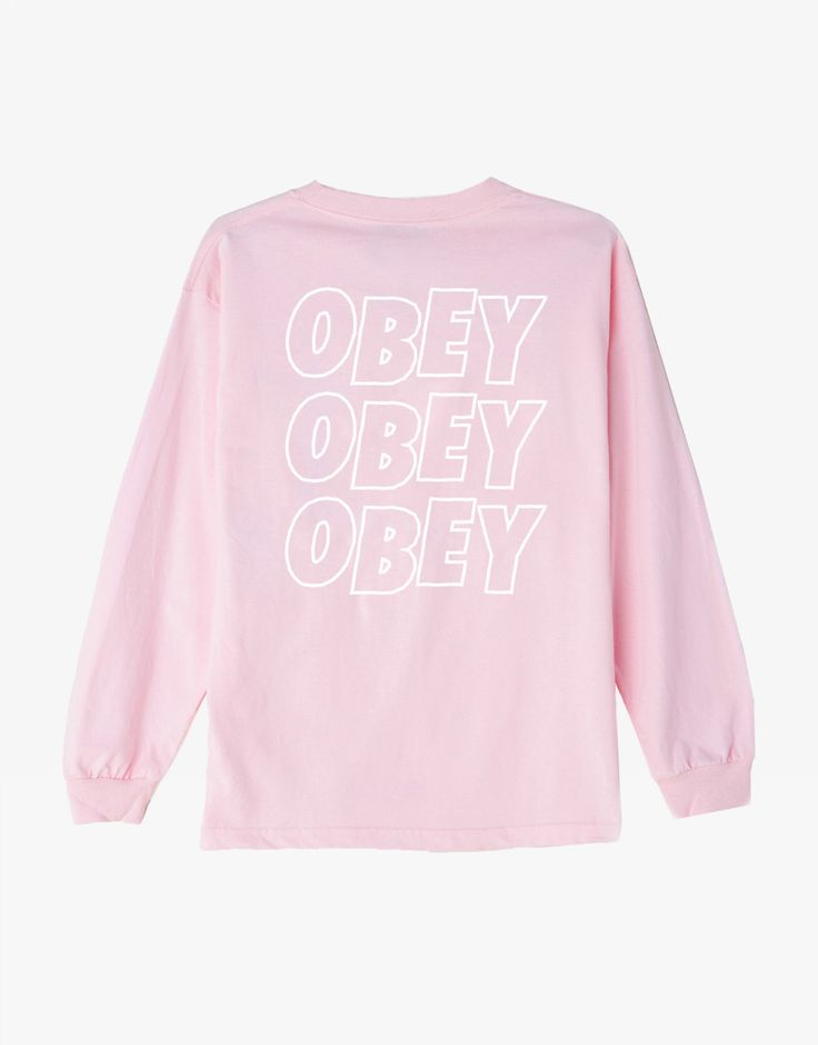 OBEY Clothing Jumble lo-fi long sleeve pink
