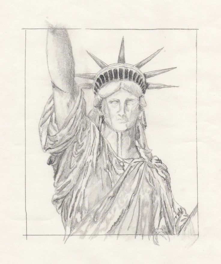 Statue of Liberty drawing assignment