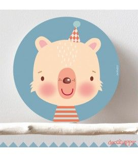 Cuadro infantil oso simpático