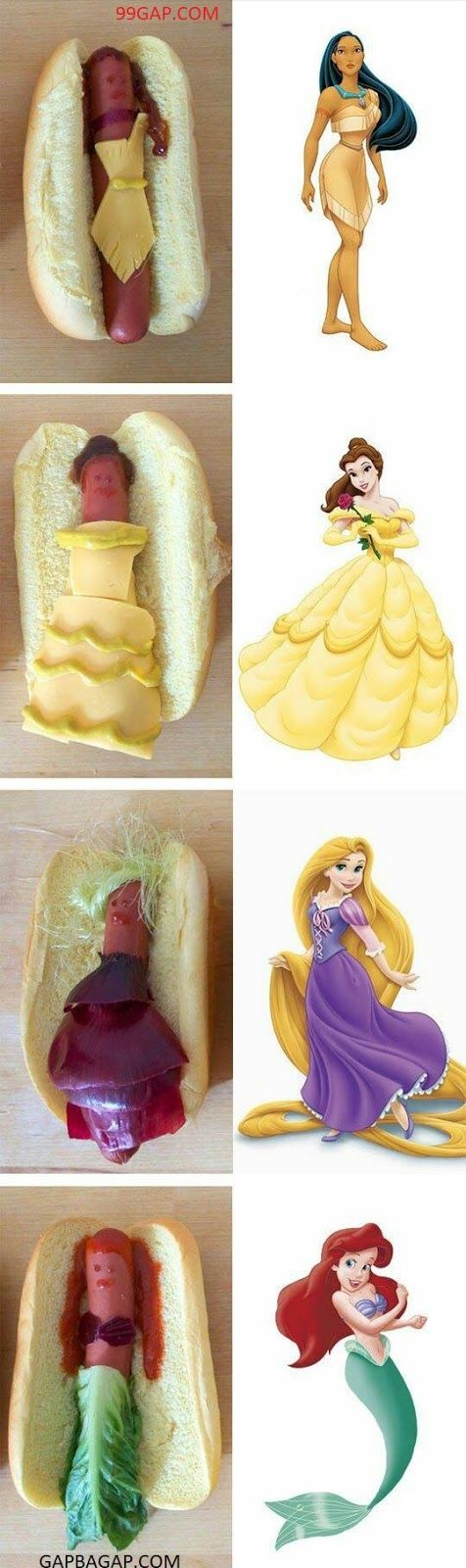 #FunnyPictures Of #Disney #Princess vs. Hot Dogs