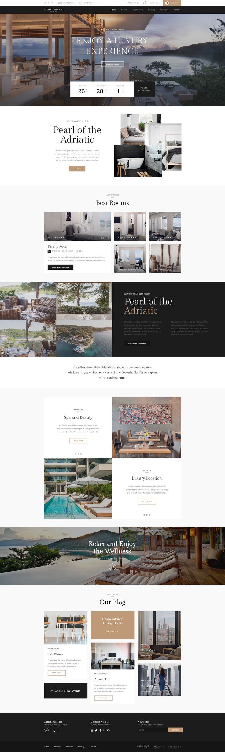 HOTEL PSD TEMPLATE Hotel Psd Template is a template designed for hotel, motel, villas , guesthouse or other tourism business that want to show all rooms in the better way possible. Each room has a ...