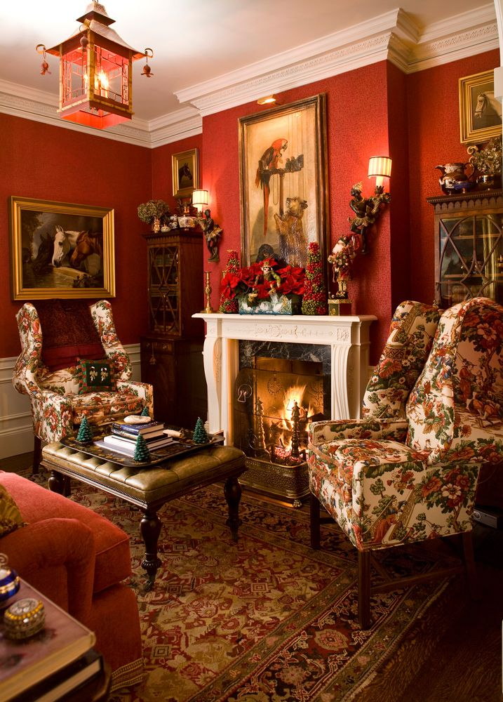 17 best images about decorating with red on pinterest for Traditional english home
