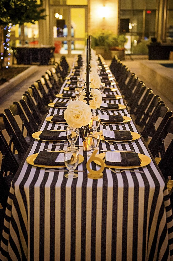 Modern Elegant White Black And Gold Wedding Parties