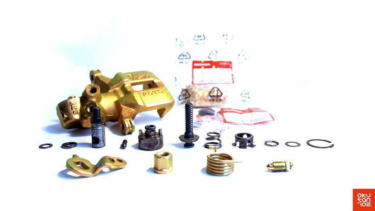 #Okutan102 #Honda Les étriers et accessoires sont ensuite microbillés puis traités pour résister à la corrosion, comme à l'origine… --- Then the calipers and accessories are sanded, and their surface is treated as the origin…